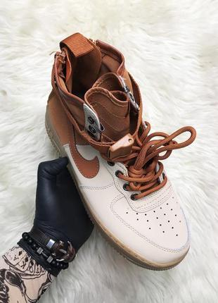 Nike air force special field brown. мужские кожаные кроссовки ...