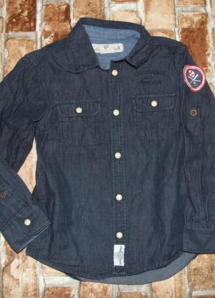 Рубашка джинс котон 4-5 лет h&m