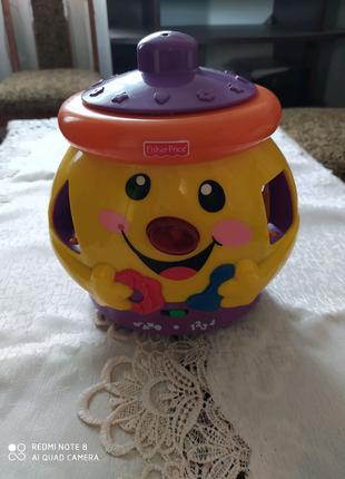 Інтерактивная игрушка горшочек Fisher-price,горщечок сортер