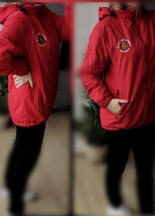 M-l англия stannо куртка,ветровка красная лыжная спортивная