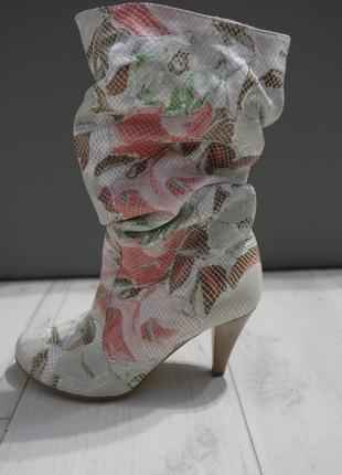 РАСПРОДАЖА ПОСЛЕДНИХ  РАЗМЕРОВ !!!  Женские кожаные сапоги !!!