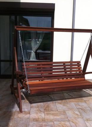 Качель садово-парковая   Материалы: дерево  Оригинальные качели с