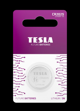 Литиевая батарейка Tesla CR2025 1шт.