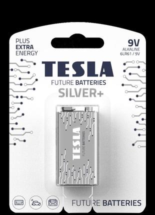 Щелочная батарейка Tesla Silver+ 9V (крона).
