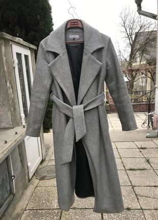 Шерстяне пальто на запах +сумка з профілю на вибір