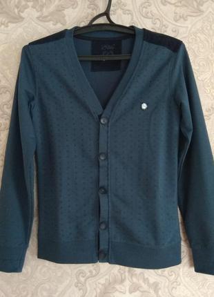 Джемпер кофта свитер кардиган с нашивками на локтях с пуговицами