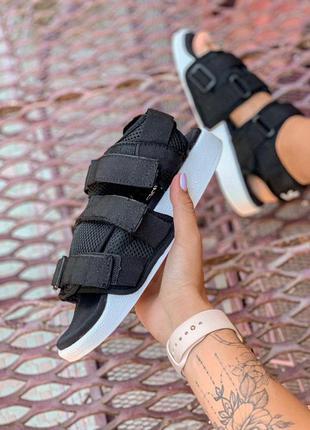Спортивные босоножки 🖤 женские черные adidas