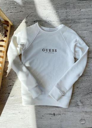 Реглан/свитшот женский белый guess спортивный прогулочный костюм