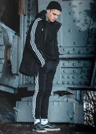 Мужская курточка черная куртка с утеплителем adidas originals