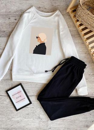 Прогулочный костюм спортивный женский реглан/свитшот и штаны