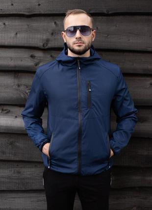 Куртка синяя мужская куртка 💙 ветровка деми
