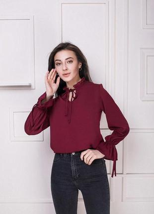 Женская блузка цвета марсала блуза марсала