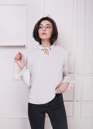 Женская блузка белая блуза