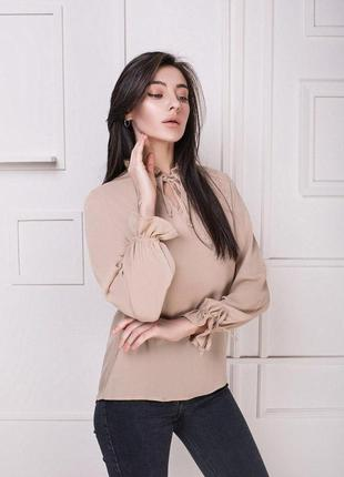 Женская блузка бежевая блуза