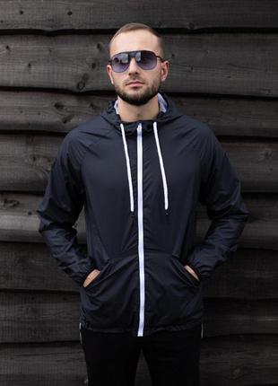 Куртка черная мужская куртка ветровка деми