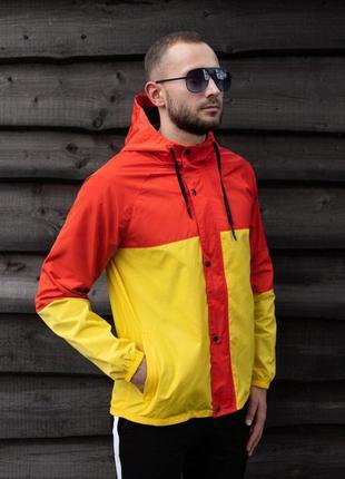 Куртка оранжевая мужская куртка желтая ветровка деми