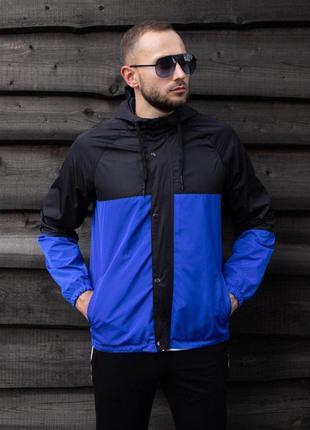 Куртка черно-синяя мужская куртка 🖤 ветровка деми