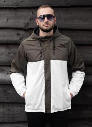 Куртка белая мужская куртка коричневая 🖤 ветровка деми
