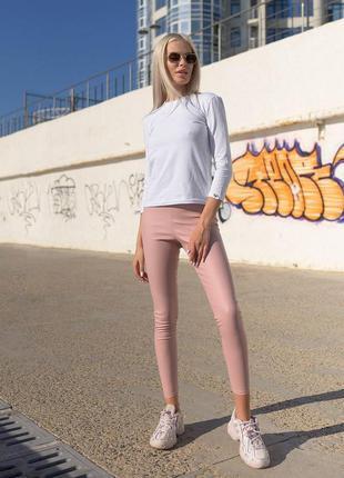 Кожаные лосины розовые лосины пудра с кожи