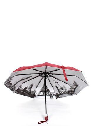 Красный зонт ☂ парасоля женский зонтик с принтом