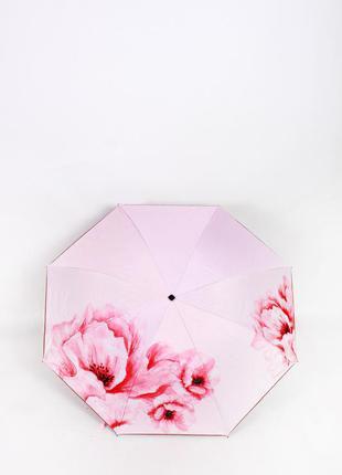Розовый зонт ☂ парасоля женский зонтик с цветами