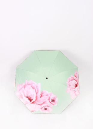 Салатовый зонт ☂ парасоля женский зонтик с цветами