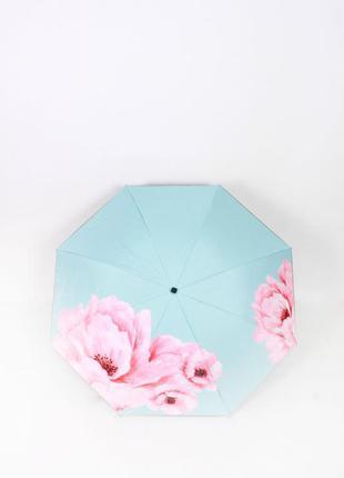 Голубой зонт ☂ парасоля женский зонтик с цветами