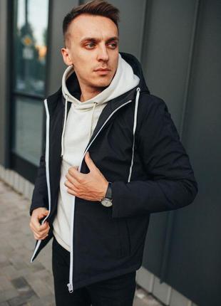 Мужская куртка осенняя черная курточка еврозима