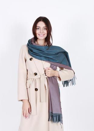 Кашемировый шарф женский изумрудный
