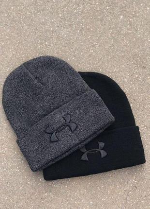 Шапки черная шапка темно-серая