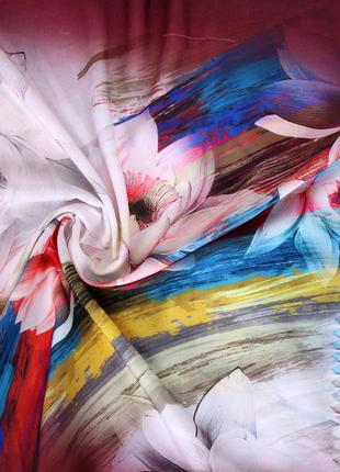 Цветочные шарфы 7 расцветок