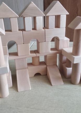 Детский конструктор кубики с дерева