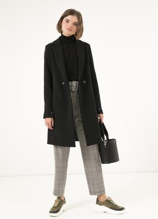 Женское осеннее пальто season черного цвета