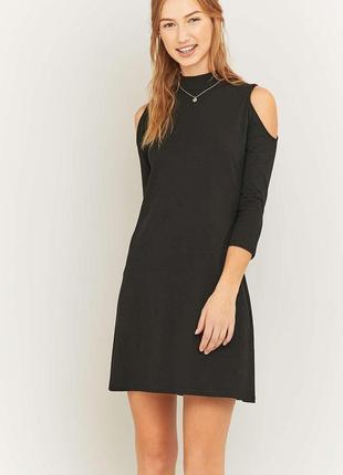 Sparkle&fade стильное платье с вырезами на плечах, р.м