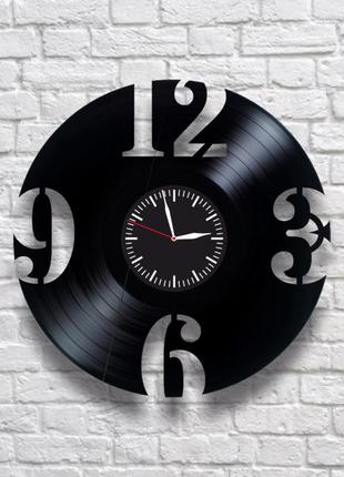 """""""цифры"""" - настенные часы из виниловых пластинок. уникальный по..."""