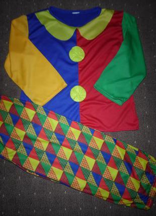 Новогодний костюм клоун 5-6 лет