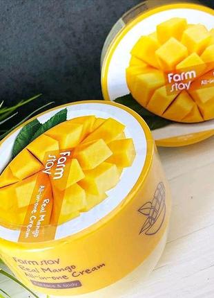 Крем для лица и тела с экстрактом манго FarmStay