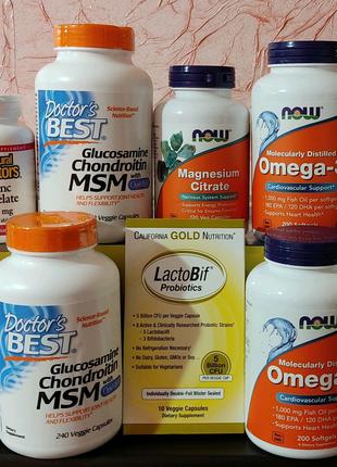Омега 3, Глюкозамин хондроитин МСМ