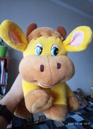 Мягкая музыкальная игрушка Корова год Быка