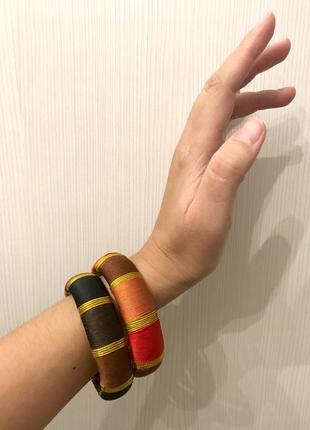 Комплект браслетов в этно стиле