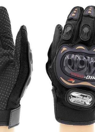 Мото вело  перчатки Pro-Biker с защитой