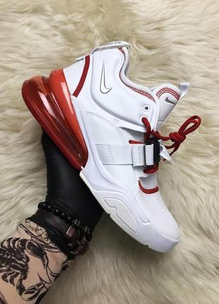 Nike air force 270 white red. мужские кожаные демисезонные кро...