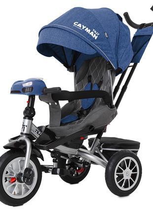 Велосипед-коляска Tilly Cayman T-381/4, синий лён