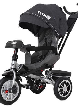 Велосипед-коляска Tilly Cayman T-381/4, темно серый лён
