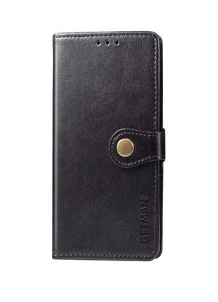 Кожаный чехол книжка для Xiaomi Mi 10 / Mi 10 Pro (Черный)
