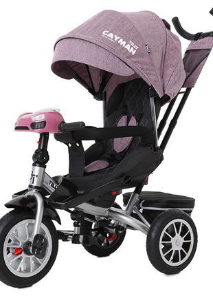 Велосипед-коляска Tilly Cayman T-381/4, фиолетовый лён