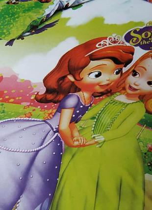 Комплект  детского постельного белья . из байки