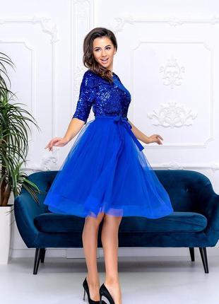Коктейльное платье на новый год, юбка фатин