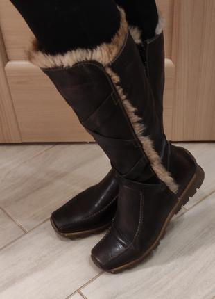 Кожаные зимние сапоги. Еврозима. Р.41, 27 см. Stone walk