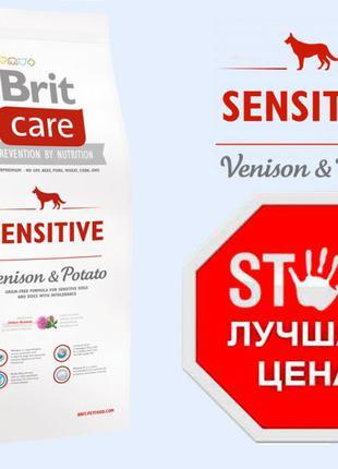 Brit care Sensitive Venison 12 кг - Корм для собак с олениной ...